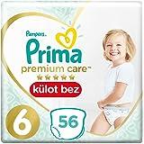 Prima Premium Care Külot Bebek Bezi 6 Beden Ekstra Large Süper Fırsat Paketi, 56 Adet