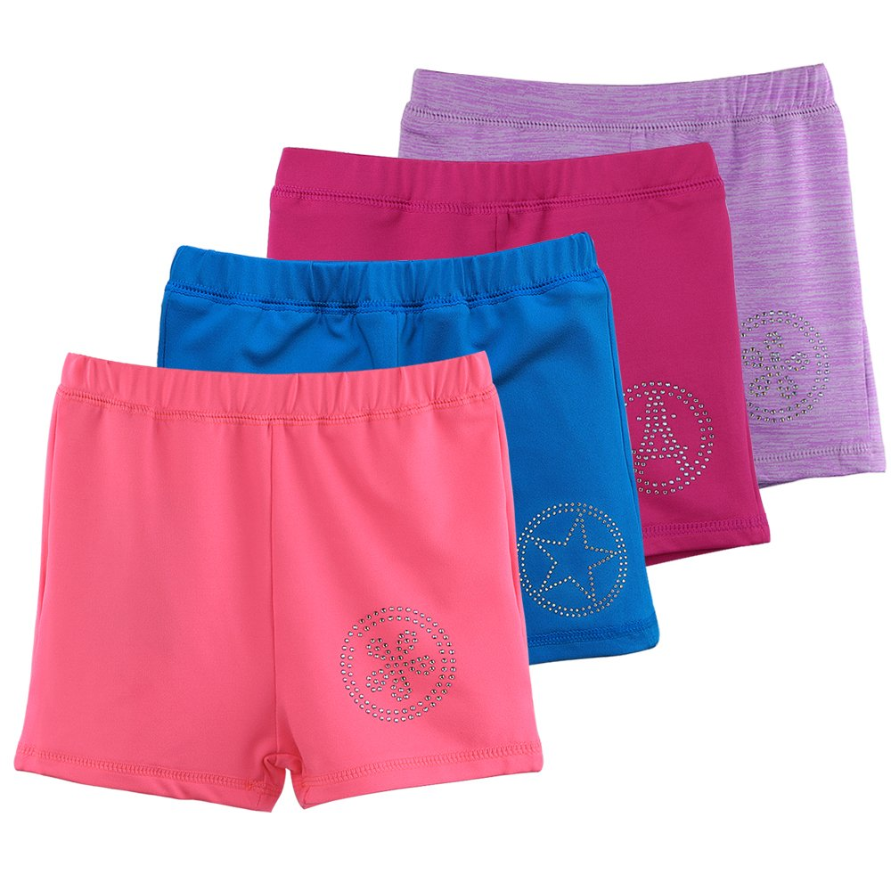 HOUZI Dance Shorts for Girls Toddlers Kids Bike Shorts Gymnastics and Ballet Dance
