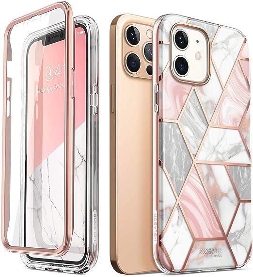 I Blason Glitzer Hülle Für Iphone 12 Iphone 12 Pro 6 1 Handyhülle 360 Grad Case Bumper Schutzhülle Cover Cosmo Mit Displayschutz 2020 Marmor Elektronik