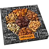 Jeffrey's Nuts Christmas, Holiday Nut Gift Basket for Men - Thanksgiving Baskets Variety Assortment, Prime Corporate Food Delivery for Him or Her, Fresh & Gourmet Healthy Get Well Ideas or Birthday