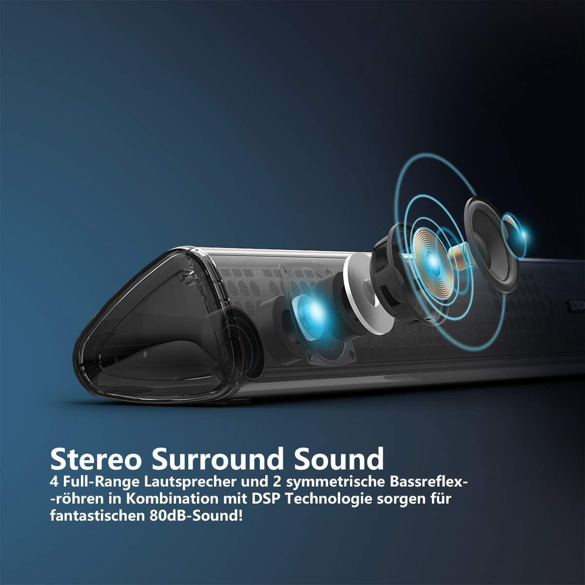 SAKOBS Barra de Sonido Inteligente para Dispositivos de TV, Sonido ...