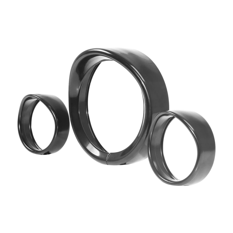 Chrome 7' LED Headlight Cover Trim Ring Decorate Visor for Harley Davidson Motorcyle