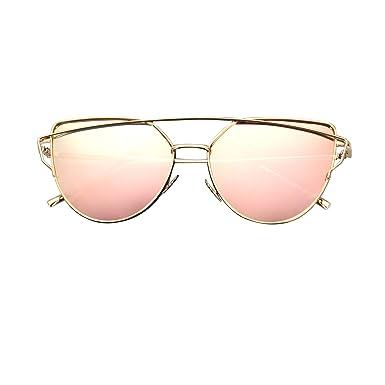 b99bca85bd7 CGID MJ74 Women s Modern Fashion Mirror Polarized Cateye Sunglasses Goggles  UV400