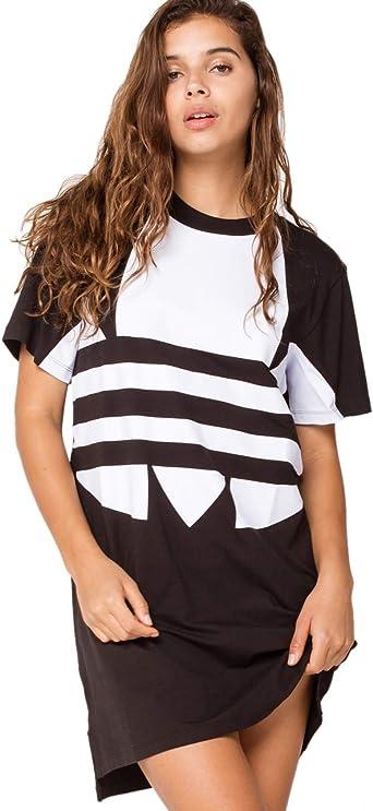 Adidas Originals Women S Large Logo T Shirt Dress At Amazon Women S Clothing Store