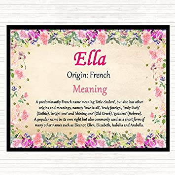 Ella Name Meaning Dinner Table Placemat Floral Amazon Co Uk Office