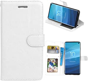 XYX Wallet Case [3 Card Holder][Stand Feature] Premium Flip PU Leather Magnetic Closure TPU Bumper Slim Fit Cover for Lenovo K3 Note A7000 (White)
