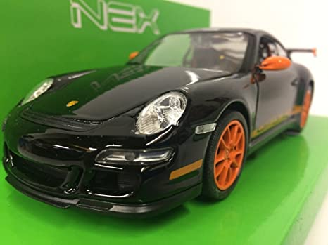 Amazon Com Porsche 911 997 Gt3 Rs Black Orange 0 Model Car
