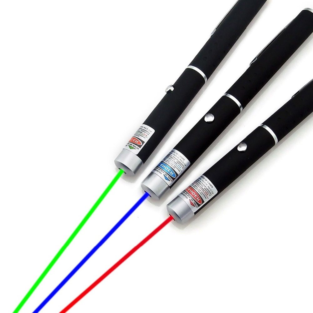 Lucheng 3 Pack laser torch fixed focus with red green blue laser pointer