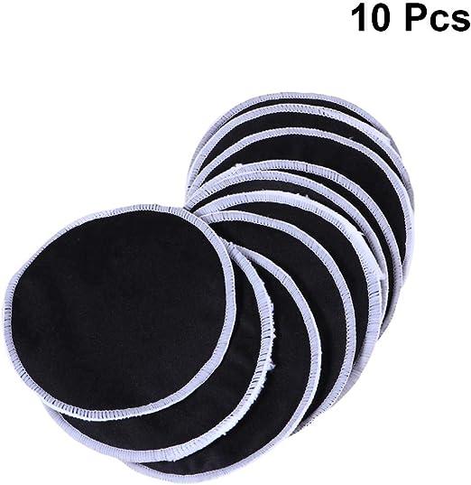 Frcolor Almohadillas desmaquilladoras de 10 piezas Reutilizables Almohadillas limpias para la cara suave Lazos de algodón de bambú lavables para el cuidado de la piel (negro): Amazon.es: Hogar