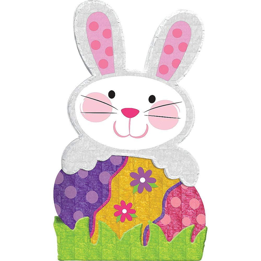 HollyDel Giant Easter Enchantment Bunny Pinata, Easter Basket Stuffers Easter Party Favors for Kids