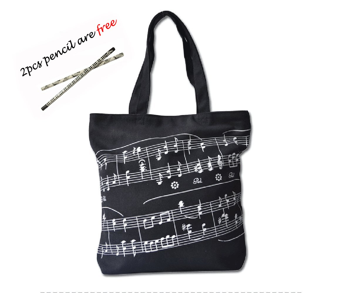 0de18e3c9c90 Cavas bag, OPOCC Women Girl's Music Symbol Cotton Canvas Tote ...