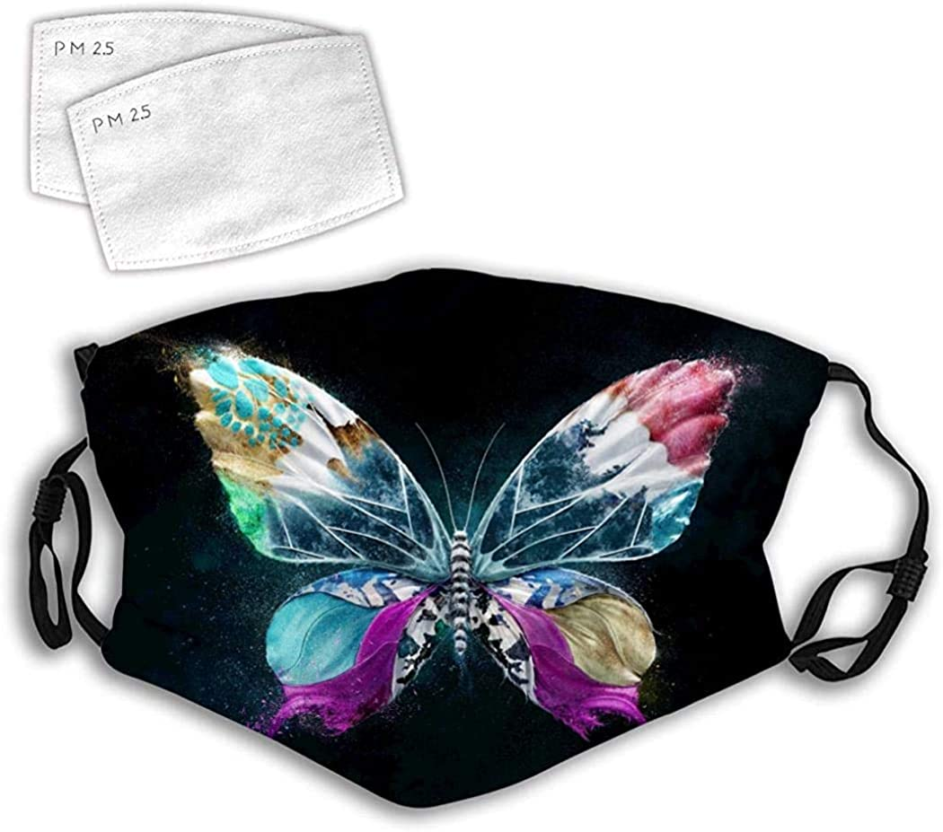 Cloth Face Mask Washable Nature Colorful Butterfly Anti Filter Dust Fabric Mouth Mask Reusable Printed B18
