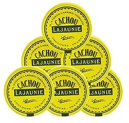 Cachou Lajaunie - Hard Licorice Candies From France, 6 Tins 6x0.25oz