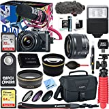 Canon EOS M6 24.2MP Mirrorless Digital Camera Video Creator Kit + EF-M 15-45mm f/3.5-6.3 IS STM Lens Deluxe Bundle