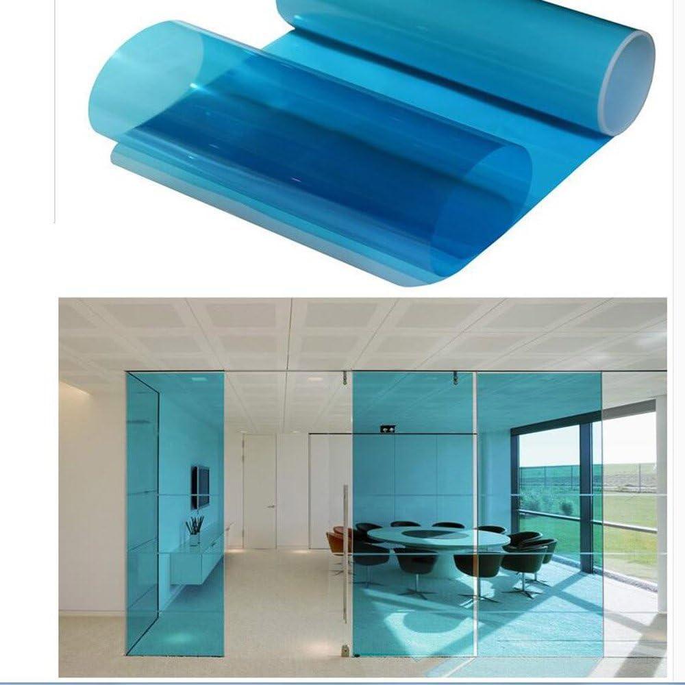 decorativa disponibile in 8 colori Blue Pellicola trasparente colorata per finestre protegge la privacy HOHO