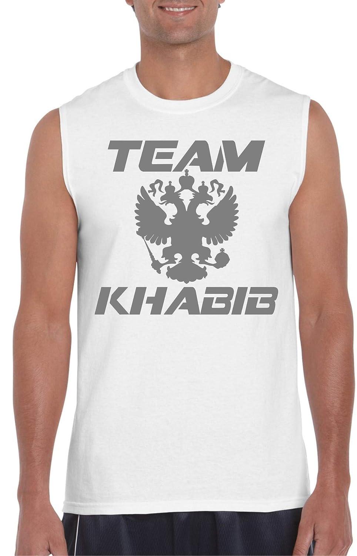 Team Khabib Silver White Muscle Tee