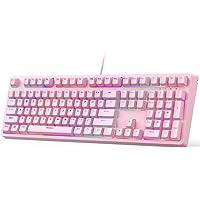 Aukey 108-Key Mechanical Wired Gaming Keyboard
