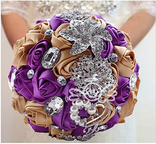 Multi-color-Selection-Advanced-Customization-Romantic-Bride-Wedding-Holding-Bouquet-Roses-with-Diamond-Pearl-Ribbon-Valentines-Day-Bouquet-Confession
