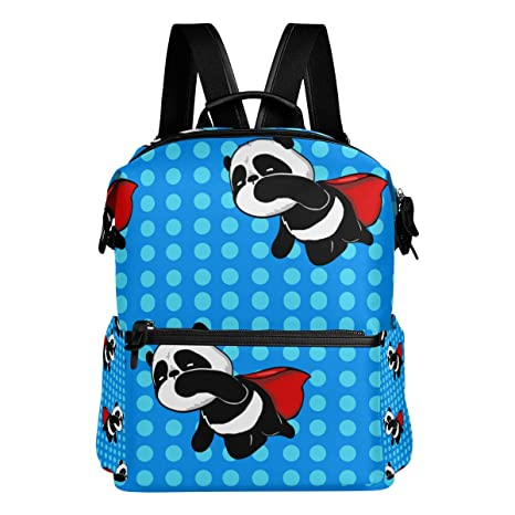 TIZORAX Super Hero Panda - Mochila Escolar, Color Azul