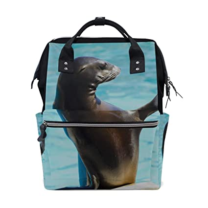 Cute Ugly Sea Lion Animal Bolsas de pañales de gran ...