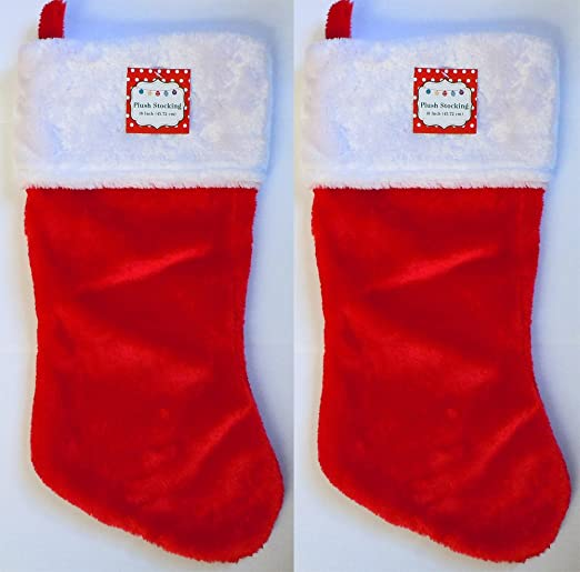 18 in Christmas Plush Red Stocking w