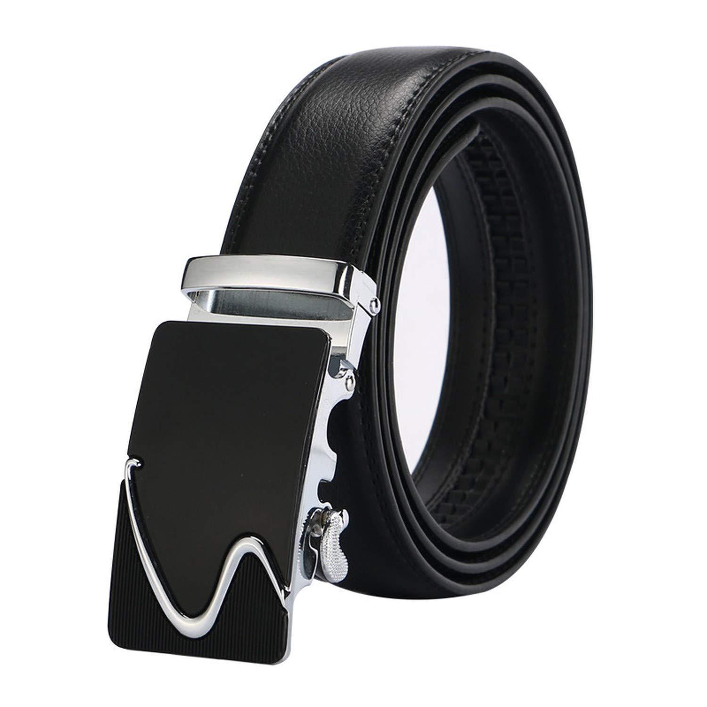 leather strap male automatic buckle belts for men authentic girdle trend mens belts ceinture Fashion designer women jean belt,Silver4,110cm
