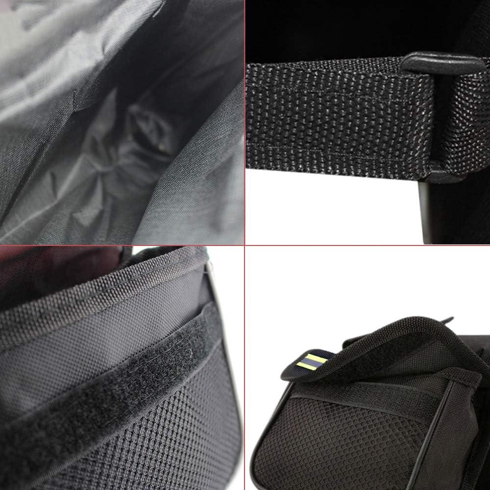 Adecuado para Todo Tipo de Bicicletas de Monta/ña Impermeable Etc(Negro) Coches de Carreras Ziyero Bolsa de Bicicleta de Doble Cara Mini Bolsa de Sill/ín Ciclismo Accesorios Impermeable Robusto