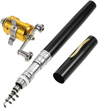 Great Portable Mini Pocket Pen Fishing Rod Pole And Reel Combo Set