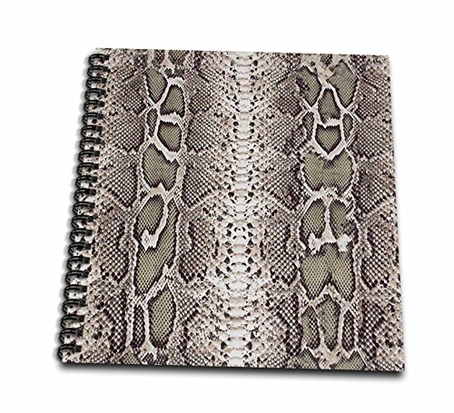 Snake Pattern Design (Janna Salak Designs Prints and Patterns - Grey Snakeskin Animal Print - Drawing Book 8 x 8 inch (db_20347_1))