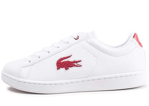 Zapatilla Mujer Lacoste Carnaby Blanco/Rojo 36SPJ0001: Amazon.es: Zapatos y complementos