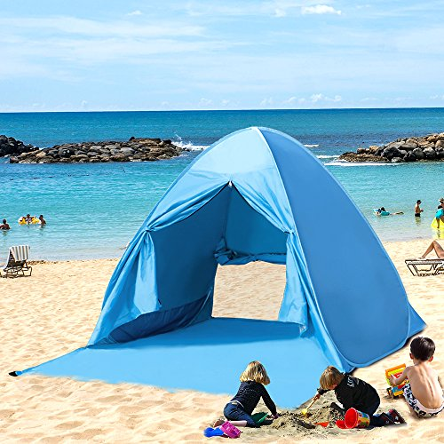 Kany Portable Outdoor Automatic Pop Up Instant Quick Cabana Beach Tent Sun Shelter Canopy Sun Shade Sport Shelter