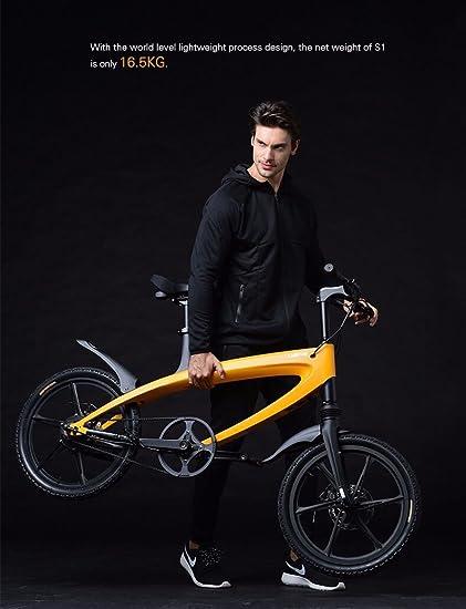 Marca nueva, Lehe S1 luz peso, Eléctrico De Aluminio Pedal ayudar bicicleta: Amazon.es: Deportes y aire libre