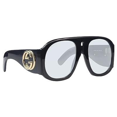 Gucci GG0152S 001, Montures de Lunettes Femme, Noir (Black/Light/Blue E), 57