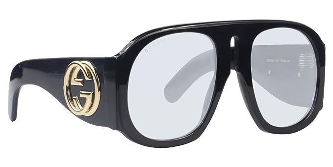 Gucci GG0152S 001, Gafas de Sol para Mujer, Negro (Black/Light-