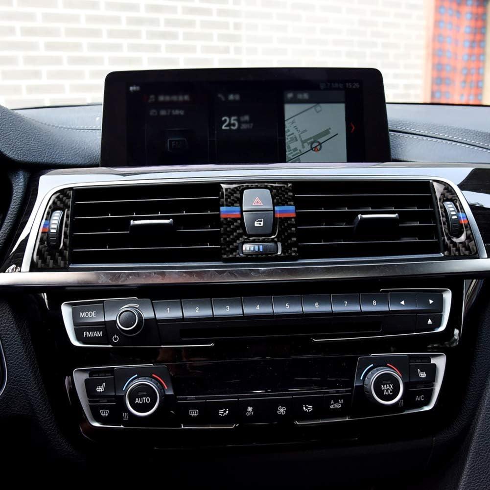 znwiem Grille da/ération de Voiture en Fibre de Carbone pour BMW S/érie 3 4 F30 F31