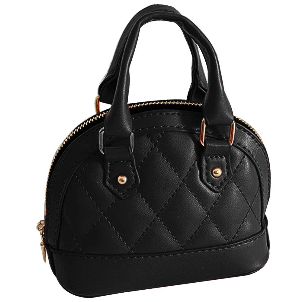 Zip Around Dome Patent Leather Satchel Mini Top Handle Toe Bag Shell Shape Purse Handbags