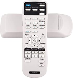 ESolid Replacement Projector Remote Control for Epson 1648806 EX3200 EX3240 EX5240 EX5250 EX7240 EX9200 VS240 VS340 VS345 PowerLite 1224 1264 1284 Home Cinema 1040 640 740HD S31 U32 W04 W32 Controller