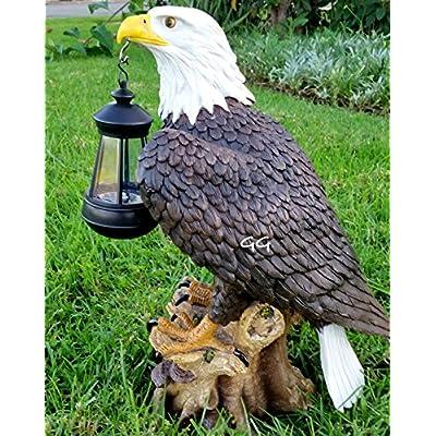 Solar American Bald Eagle Statue with Solar Light-EA: Home & Kitchen