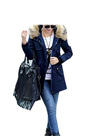 LR New New Women Winter Coat Wadded Jacket Medium-Long Plus Size 4XL Parka Fur
