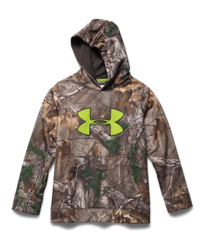 Under Armour Youth Scent Control Fleece Hoody Realtree Ap Xtra / Maverick Brown XL by Under Armour