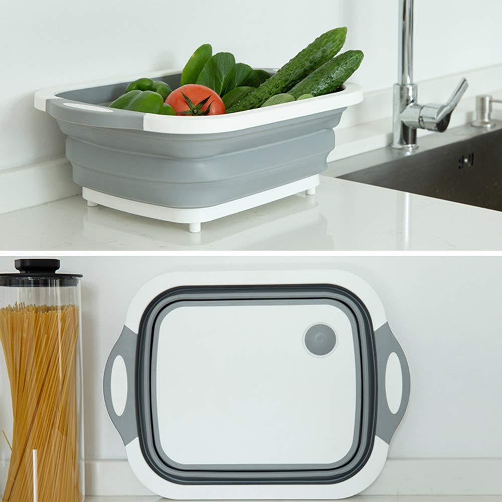 Romote Passoire Pliable Grand Fruit Laver Vegetable Basket Passoire avec poign/ée Repliable Cuisine Passoire Cuisine Gadgets