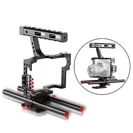 Handheld Estabilizador de la cámara, asa en forma con extraíble ...