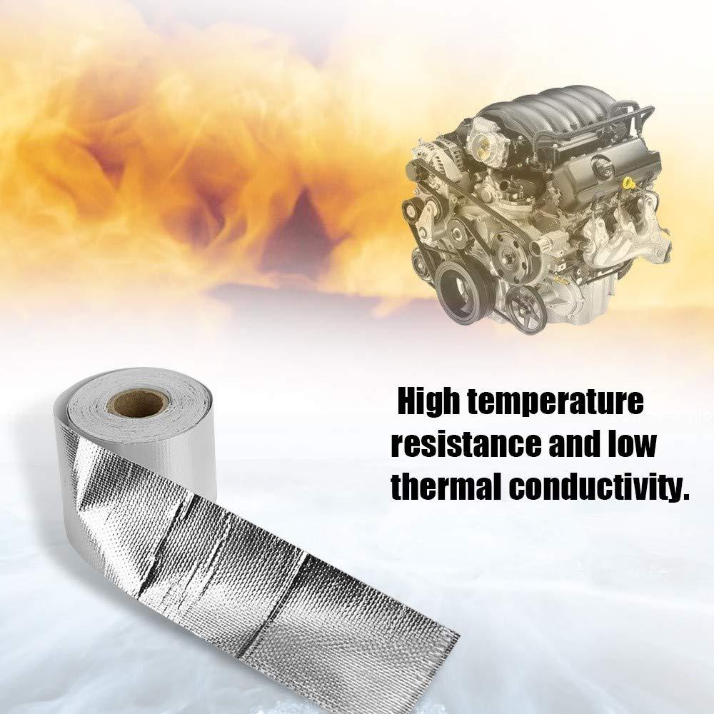 EasyBuying Refit Thermo-Isolierband f/ür Auspuffw/ärme Rolle langlebig verschlei/ßfest