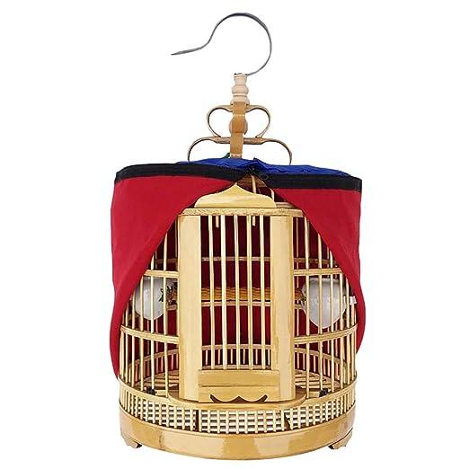 Bambú Jaula de pájaros pequeña Mejora Jaula de Vuelo Soporte de ...