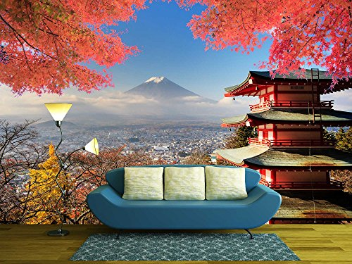 Mt Fuji with Fall Colors in Japan for Adv or Others Purpose Use