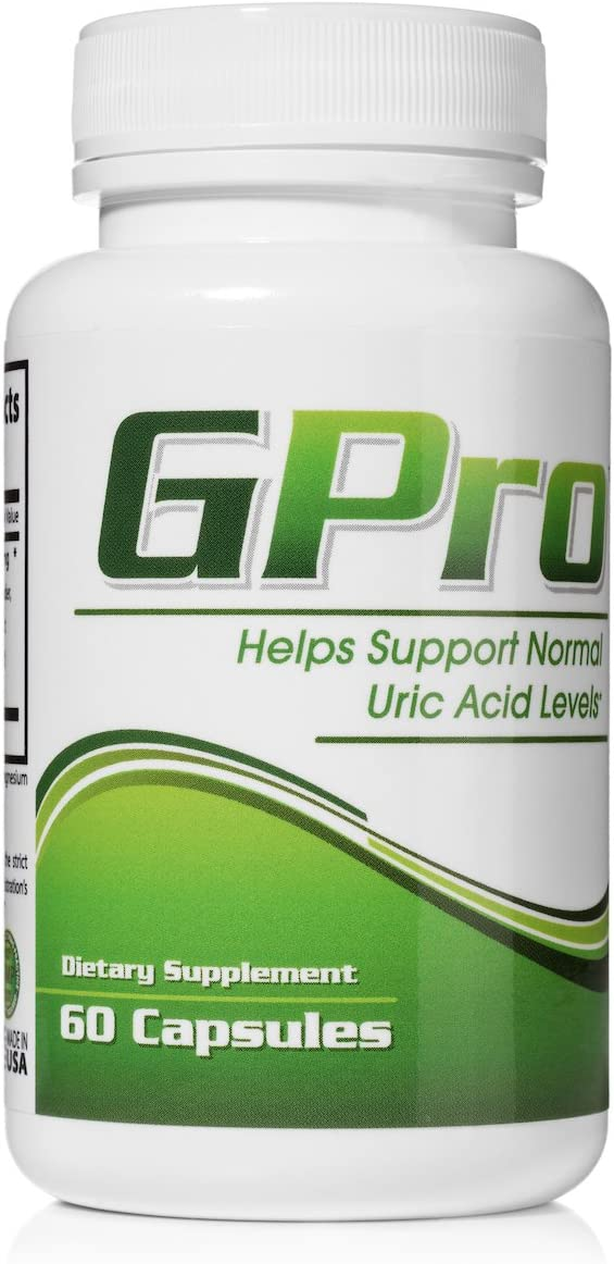 GPro Uric Acid Support Formula with Yucca, Garlic, Artichoke Powder, Milk Thistle Silymarin , and Turmeric to Support Healthy Uric Acid Levels 60 Capsules