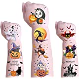 Halloween Temporary Tattoos for Kids - Waterproof Halloween Decorations Party Body Arm Stickers,Festival Decor Ghost…