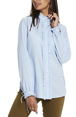 best deals on popular brand discount shop Scotch & Soda Maison 137420, Chemises Femme, Blau (Sky Blue ...