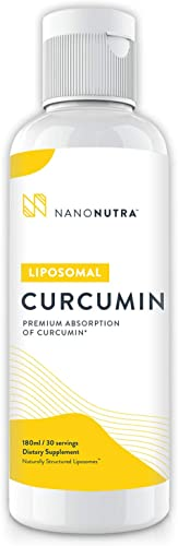 Liposomal Curcumin by NanoNutra – The Most Advanced Natural Turmeric Curcumin Utilizing Sunflower Lecithin Liposomes for Dramatically Increased Absorption Natural Anti-Inflammatory Detox Support