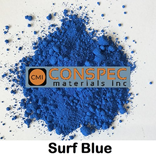 Conspec 2-oz SURF BLUE Powdered Color for Concrete, Cement, Mortar, Grout, Plaster, Colorant, Pigment (2 Ounce Powdered Dye)